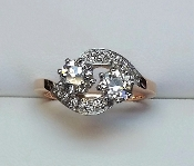 14kt Two Tone Gold Diamond Ring